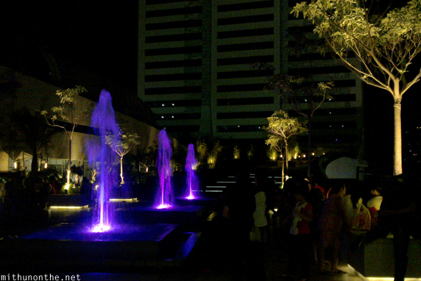 SM Aura rooftop fountains