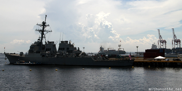 US Navy ship Manila Bay