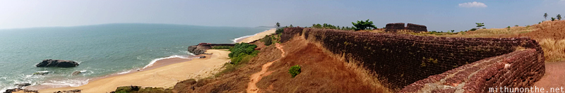 Bekal fort Arabian sea panorama