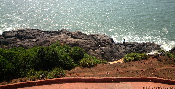 Bekal fort rock Arabian sea