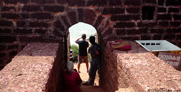 Bekal fort steps to beach