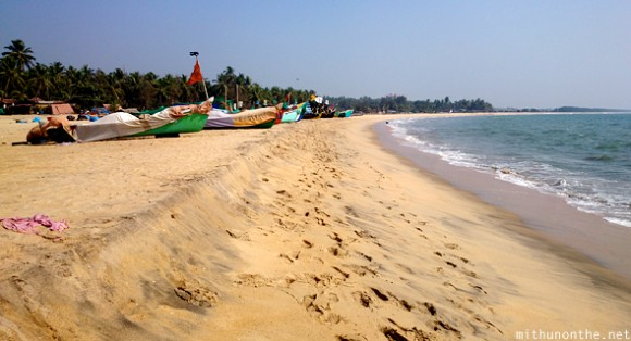 Fishing boats Bekal beach