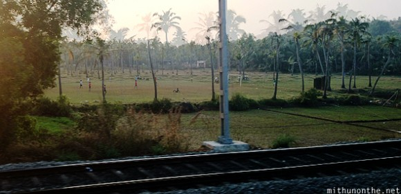 Football paddy field Kerala
