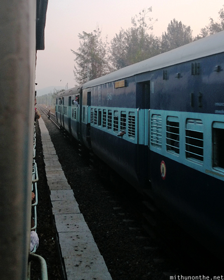 Kerala train passing by India