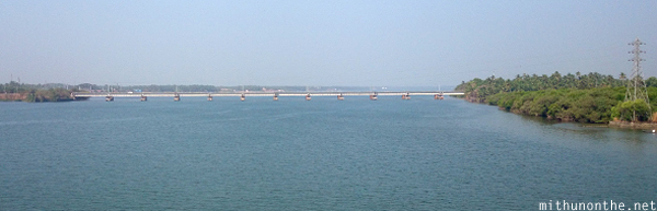 Railway bridge Kannur backwater