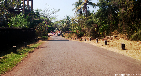 Road to Bekal fort Kerala