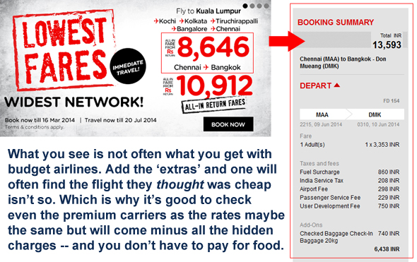 Air Asia not-as-advertised