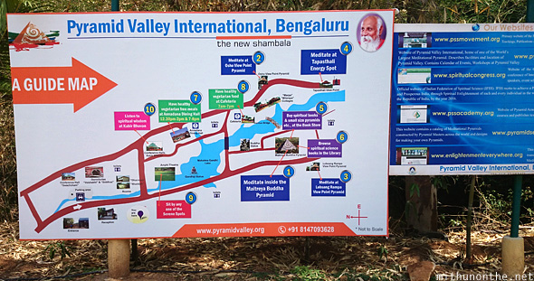 Pyramid Valley map Bangalore