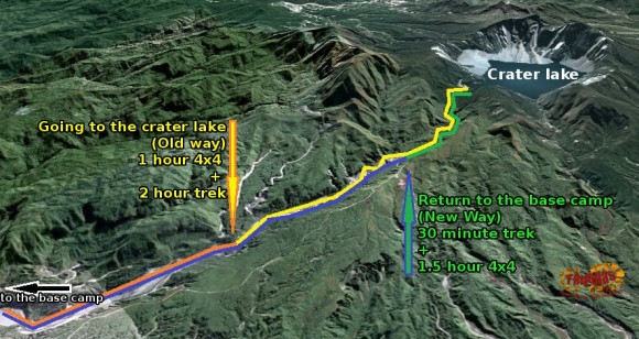 This is the route map for the trek