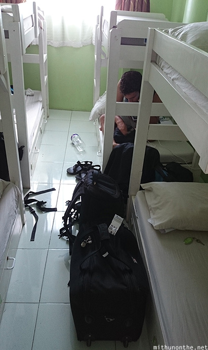 Dorm beds Tr3ats guesthouse Cebu Philippines