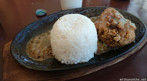 Garlic chicken rice sizzler Cebu