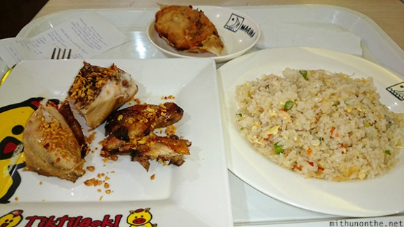 Garlic chicken seafood fried rice stuffed crab Cebu