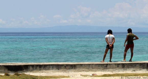 Girls Oslob sea Cebu Philippines
