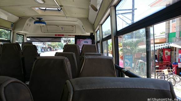 Inside bus Oslob to Cebu