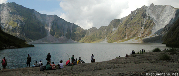 Mount Pinatubo crater tour group