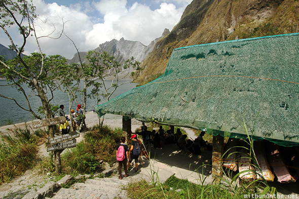 Mount Pinatubo lake crater tent