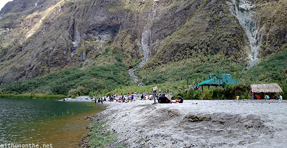 Pinatubo crater lake beach Philippines