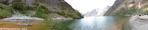 Pinatubo crater lake panorama