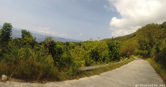 Road Tumalog falls sea view Oslob