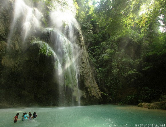 Swimming in Tumalog falls Oslob