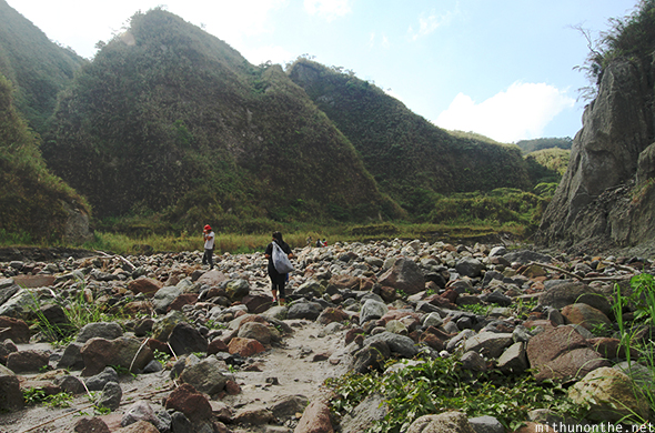 Trek to Mount Pinatubo rocks