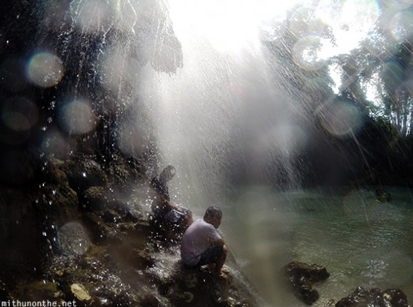 Tumalog falls water splash Oslob