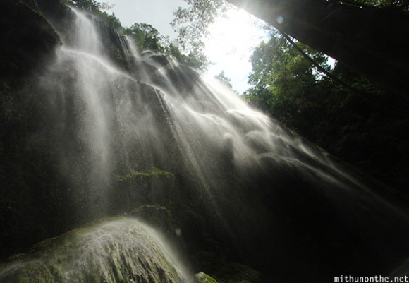 Tumalog waterfalls sunrays Cebu