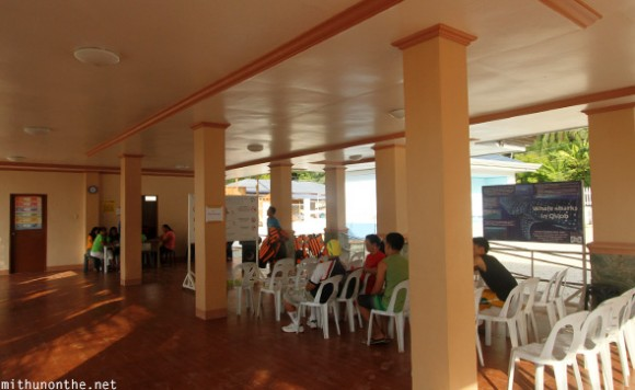 Whale shark briefing centre Oslob Cebu Philippines