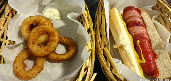Bacon hot dog onion rings Cebu