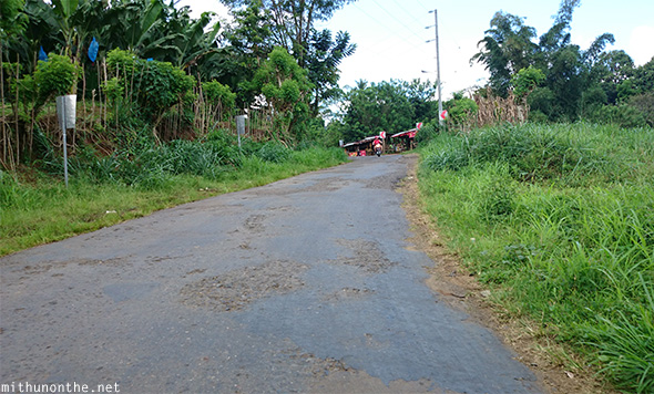 Bad road to Eden Nature Park Davao