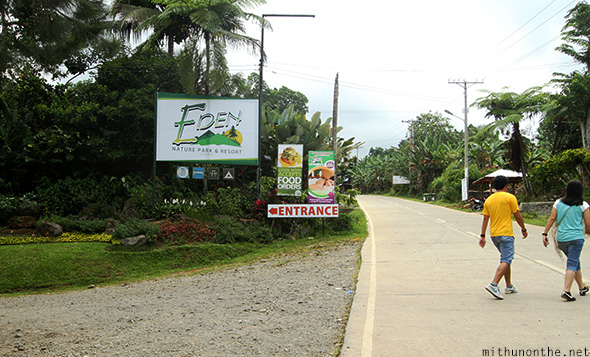 Eden Nature Park entrance road Davao