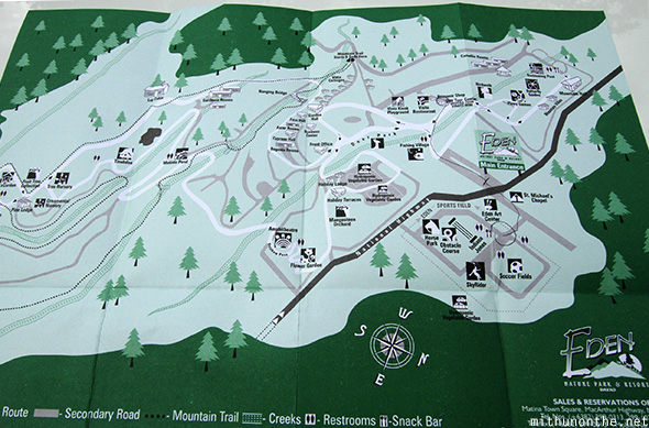 Eden Nature Park map Davao