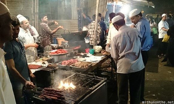 Muslims sheek kebabs Bangalore India