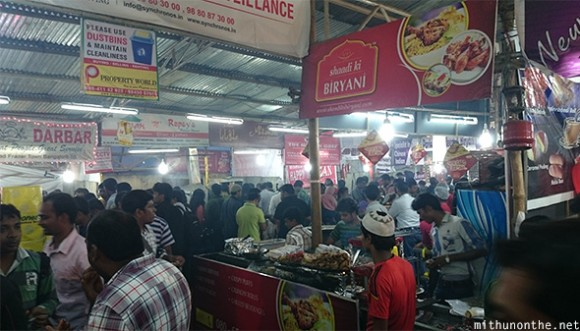 Ramazan food tent Mosque road Bangalore