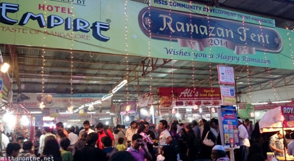 ... Ramazan tent Iftar Mosque Road Bangalore & Feasting on Ramadan food treats at Mosque Road Bangalore