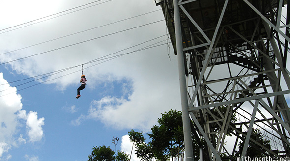 Zip line Eden Nature park Davao Philippines