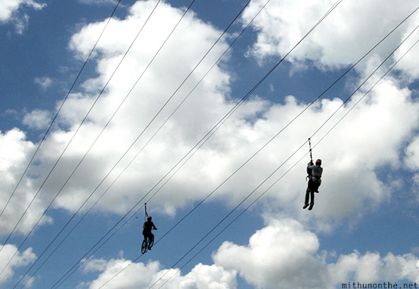 Zipline Sky Cycle Eden Nature park Philippines