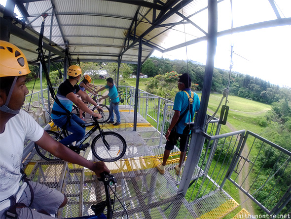 Getting ready Sky Cycle Davao Philippines
