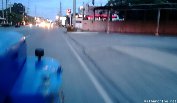 Jeepney ride Toril Davao evening