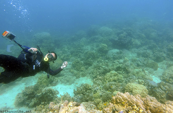 Dive instructor with camera Davao