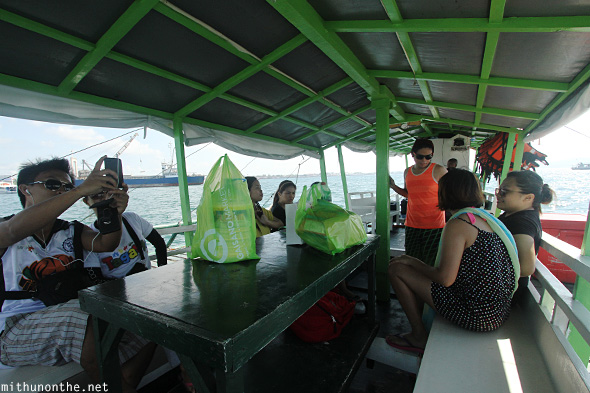 Scuba dive boat tourists Davao