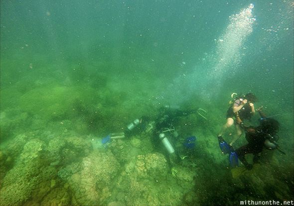 Scuba diving first dive Davao Philippines