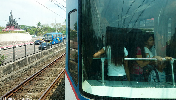 Ladies train MRT Manila