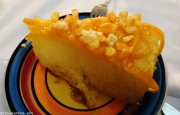 Orange cake slice Bellini's Manila
