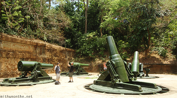 Battery Way guns Corregidor island