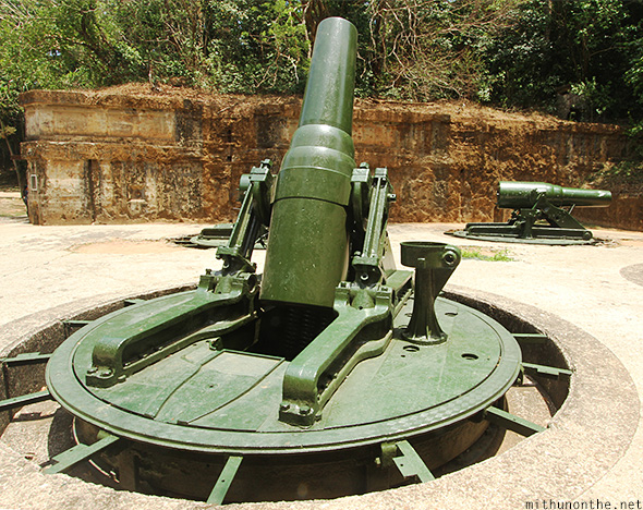 Battery way cannon Corregidor island