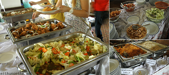 Buffet lunch Corregidor Inn