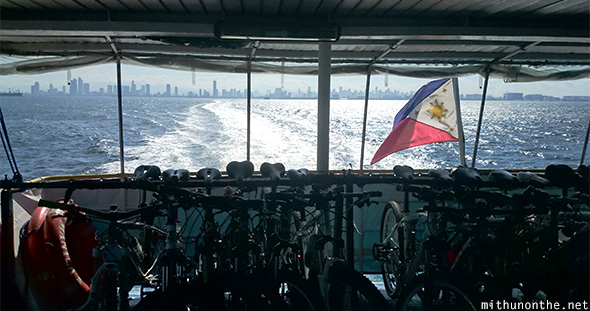 Cycles ferry view Manila city