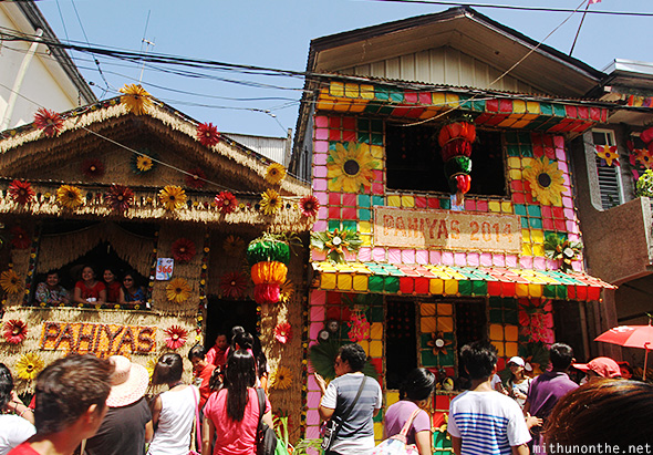 Decorated houses Pahiyas festival Philippines