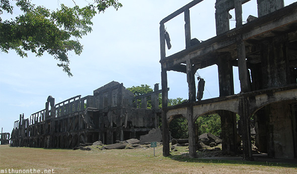 Destroyed topside barracks Corregidor island